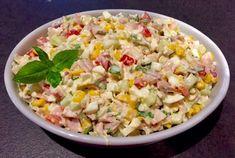 Pyszna sałatka z sosem czosnkowym - Blog z apetytem Tzatziki, Aga, Grains, Rice, Recipes, Food, Gastronomia, Thermomix, Essen