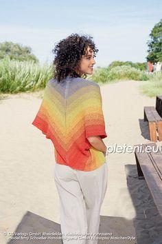 Bolerko Positive Vibration – PLETENÍ – NÁVODY Desi, Crochet Hats, Positivity, Colours, Fantasy, Fashion, Moda, La Mode, Fasion