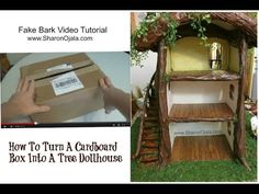 This is how to make the tree for Evie and Clem's bedroom... http://www.sharonojala.com/2015/02/how-to-make-fake-bark-for-dollhouses.html