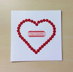 Happy Valentine Button Card by TheBlenheimCardCo on Etsy