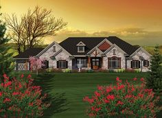 ePlans Ranch House Plan – French Inspired Ranch - 3794 Square Feet and 3 Bedrooms from ePlans – House Plan Code HWEPL76547