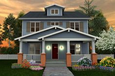 Craftsman Style House Plan 6 Beds 5 Baths 4199 Sq Ft Plan 461 40 Craftsman Style House Plans Square House Plans Craftsman House