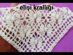 Crochet Collar Pattern, Crochet Motif, Crochet Designs, Crochet Doilies, Crochet Stitch, Knit Crochet, Easy Knitting Patterns, Knitting Stitches, Crochet Patterns