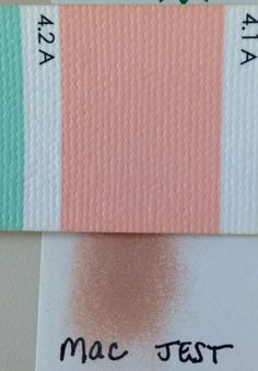 Mac's Jest eyeshadow matches Bright Spring's 4.2 A. Much prettier on skin than in this pic!