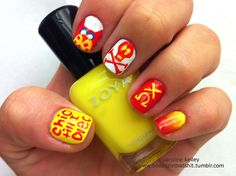Chi Omega nails, perfect for Chi O events or even just to rep your sorority everywhere you go. Add some style to your outfit. Sorority Nails, Sorority Gifts, Manicure Ideas, Chi Omega, Skull And Crossbones, Greek Life, Makeup Techniques, Mani Pedi, Classy Women
