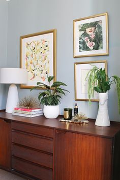dining room mid-century sideboard styling