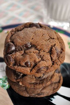 Molasses Chocolate Chip Cookies-nixed the chocolate chips and they were a lot like ginger snaps!