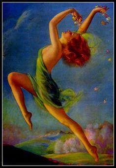 New Print Jules Erbit 20s 30s Art Deco Spirited Women Gay Pinup 126 | eBay