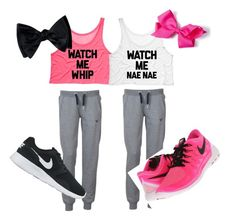 matching best friend athletic outfits by lieselmeminger1 ❤ liked on Polyvore featuring Voi Jeans, NIKE, womens clothing, women, female, woman, misses and juniors