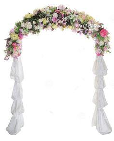 Decoración de la boda del arco de metal en la altura de eventos y Fiesta 240cm-en Blanco de Casa y Jardín en Aliexpress.com | Grupo Alibaba
