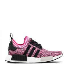 new product 26684 7f961 Chaussure Adidas NMD R1 W PK Primeknit Rose Pink BB2363 Shock Pink Noyau  Noir