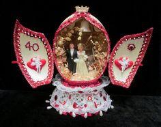 1945 Marblelike Anniversary Wedding Cake Topper by retrogal415