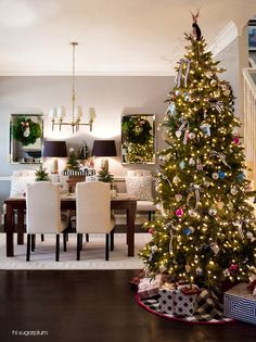 Hi Sugarplum | Christmas in the Dining Room