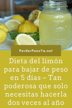 Dieta del limón para bajar de peso en 5 días – Tan poderosa que solo necesitas hacerla dos veces al año. #Dieta #perderpeso #adelgazar
