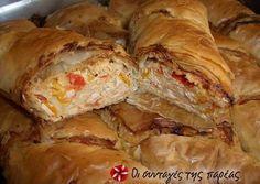 Υγιεινή και πεντανόστιμη κοτόπιτα Cookbook Recipes, Cooking Recipes, Gyro Pita, Greek Pastries, Savory Muffins, Savoury Pies, Filo Pastry, Greek Recipes, Chicken Recipes