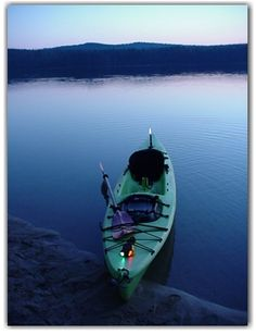 Properly lighted kayak