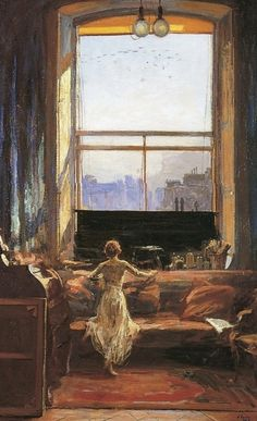 By John Lavery. What a window!