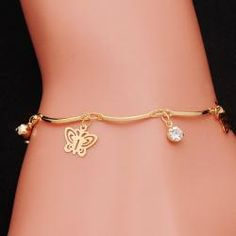 top quality trendy summer style Brand New fashion hot butterfly crystal jewelry charm bracelet & anklet for women Material : Alloy + Austrian Crystal Condition : Brand New and High Quality Quantity : Length : Color : Show As a Pictures Stone Jewelry, Crystal Jewelry, Charm Jewelry, Gold Jewellery, Butterfly Bracelet, Butterfly Jewelry, Fashion Bracelets, Bangle Bracelets, Fashion Jewelry