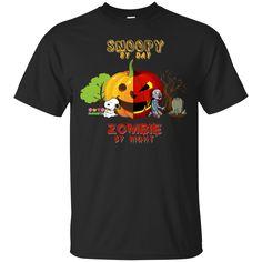 Snoopy T Shirt Snoopy By Day Zombie By Night T Shirt Hoodie Sweatshirts