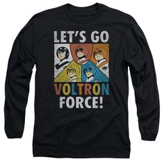 Voltron Force Black Long-Sleeve T-Shirt
