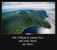 Ein Vulkan in einem See, auf einer Insel, im Meer… A volcano in a lake, on an island, in the sea … Sunset Landscape, Watercolor Landscape, Landscape Photos, Landscape Paintings, Beautiful Places To Visit, Wonderful Places, Beautiful World, Maserati Quattroporte, Maserati Ghibli