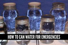 can-water-for-emergencies. At first I kind of laughed, and then I remembered this might be the best way to store and forget. Unlike plastic that you should change out every couple of months, or treat with chlorine tablets, or boil first.