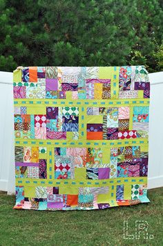 Fairy Tale Lane Quilt, Tula Pink Sew Along by LRstitched, via Flickr