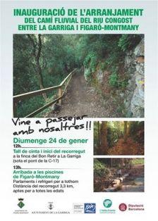 Cartell Inauguració camí fluvial #laGarriga-Figaró