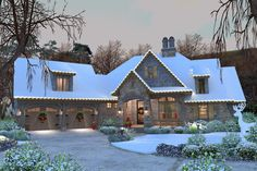 Craftsman Style House Plan - 4 Beds 3.5 Baths 2482 Sq/Ft Plan #120-184 Exterior - Front Elevation - Houseplans.com