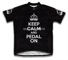 Keep Calm and Pedal On Men Cycling Jersey Short Sleeve bike bicycle jerseys  ropa ciclismo 5 a7708dee2