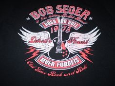 Bob Seger Black T-Shirt XL  2013 Rock and Roll Never Forgets Tour