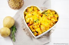 Süßkartoffel-Gemüse Gratin
