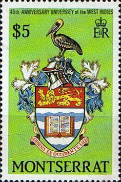 Montserrat 1988-Escudo de la Universidad de West Indies