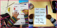 Actividades para dibujar y practicar colores en español.