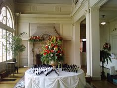 Wedding flower designs by Stein Your Florist Co. at the Cairnwood Estate in Bryn Athyn, PA. Wedding Flower Design, Wedding Flowers, Walking Down The Aisle, Table Cards, Wedding Card, Flower Designs, Fairy Tales, Table Decorations, Home Decor