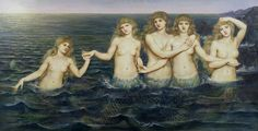 The Sea Maidens Fine Art Print by Evelyn De Morgan