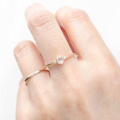 Estel Ring - 0.24ct Rose Cut Diamond (One of a kind)