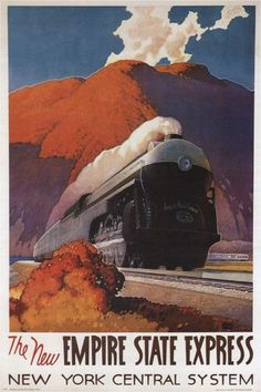 Empire State Express VINTAGE TRAIN POSTER Ragan United States 1941 24X36 NEW