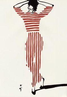 Rene Gruau Fashion Illustrations - http://www.popularaz.com/rene-gruau-fashion-illustrations/