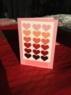 DIY Valentine's Day cards. Stamping. Hearts.