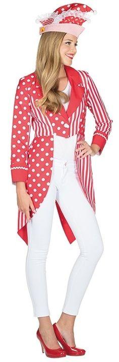 Rayée manches longues rouge nouveau-femmes Carnaval Déguisement Costume