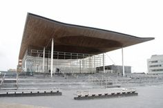 Welsh Assembly Building in Cardiff Bay by Richard Rogers Partnership
