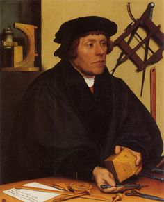 100 Greatest Paintings of All Time (pics) | Listology. HOLBEIN.. Nikolaus Kratzer. 1528.  Louvre. PARÍS.