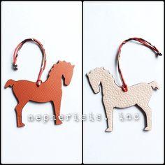 Hermes Petit h horse leather ornament.