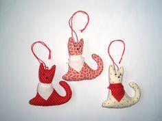 Stoffanhänger - Stoffanhänger - drei niedliche Katzen - ein Designerstück von CrazySistersDesign bei DaWanda