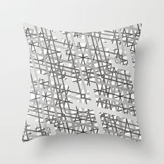 grey Throw Pillow by creaziz - $20.00