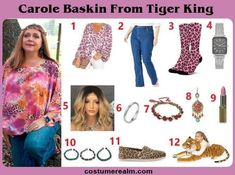 How To Dress Like Carole Baskin Costume Guide Halloween Party Kostüm, Halloween Inspo, Family Halloween, Couple Halloween Costumes, Halloween Outfits, Diy Costumes, Costume Ideas, Halloween 2020, Halloween Stuff