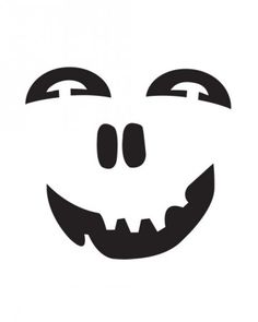 These grinning faces stand out with the addition of paint.Print the Painted Face Template