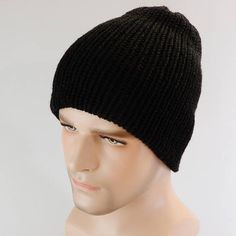 Beanie hat men Beanie women Knit hat winter Ski hat Reversible