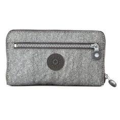 60ef71dbc Kipling Luggage Raffie Gm Wallet, Silver Glimmer, One Size Kipling. $24.80